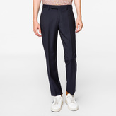 Paul Smith Men's Classic-Fit Navy Wool And Mohair-Blend Travel Suit Trousers