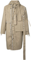 Craig Green lace-up detail coat - men - Cotton - S