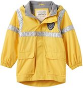 """Carter's Toddler Boy Police"""" Patch High-Low Hooded Rain Jacket"""
