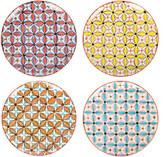 Pols Potten Colour Hippy Plates - Set of 4