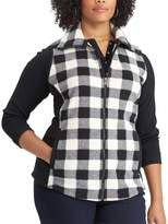 Chaps Plus Size Buffalo Check Fleece Vest