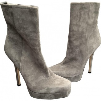 Gucci Grey Suede Ankle boots