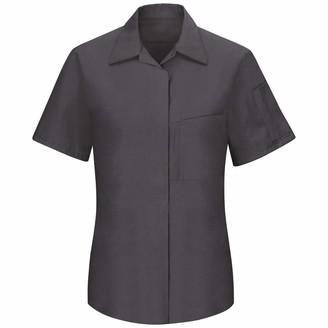 Red Kap Women's Short Sleeve Performance Plus Shop Shirt with OilBlok Technology