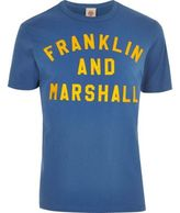 River Island Mens Blue Franklin & Marshall print T-shirt