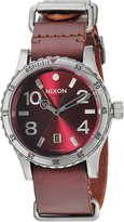 Nixon Men's 'Diplomat' Swiss Quartz Stainless Steel and Leather Automatic Watch, Color: (Model: A2692073)