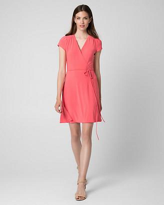 Le Château Knit Faux Wrap Dress