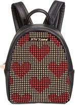 Betsey Johnson Studded Heart Small Backpack