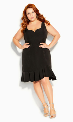City Chic Mini Cherish Dress - black