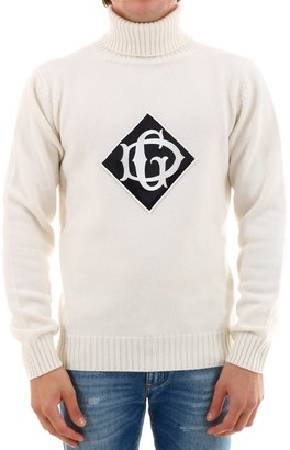 Dolce & Gabbana Logo Turtle-Neck Knitted Sweater