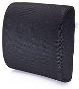 MemorySoft Lumbar Support Pillow with Mesh Fabric, Black