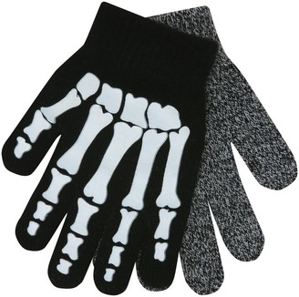 M&Co Glow in the dark skeleton gloves two pack