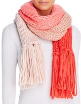 Kate Spade Hand Knit Color Block Muffler Scarf