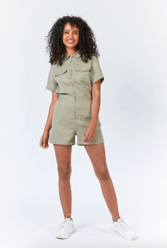 Dr. Denim Montana Playsuit Green agate - Size XS