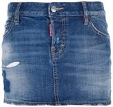 DSquared DSQUARED2 distressed denim skirt