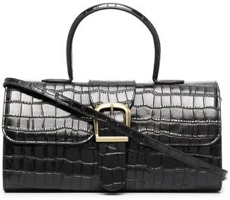 Rylan Crocodile-Effect Leather Crossbody Bag