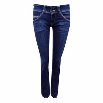 Pepe Jeans Ex Ex Venus Blue Low Waist Denim Straight Leg Jeans Size 8 10 14