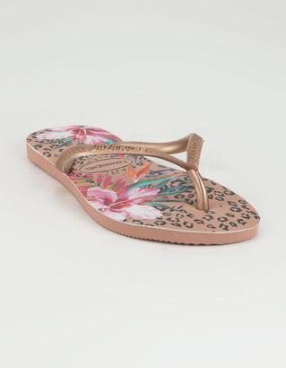 Havaianas Slim Animal Floral Womens Sandals