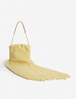 Bottega Veneta Fringed shearling clutch bag