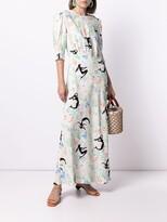 Thumbnail for your product : Rixo Mermaid-Motif Maxi Dress