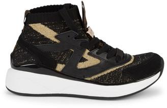 Roberto Cavalli Sport Knit Chunky High-Top Sneakers