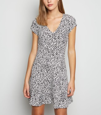 New Look Leopard Print Empire Mini Dress
