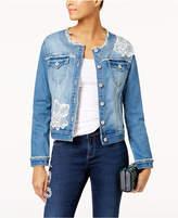 INC International Concepts Appliquandeacute; Denim Jacket, Created for Macy's