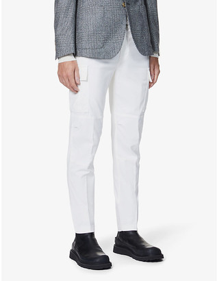 Eleventy Mid-rise cotton-blend trousers