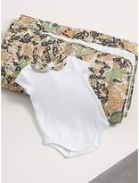 Burberry Beasts Print Cotton Two-piece Baby Gift Set