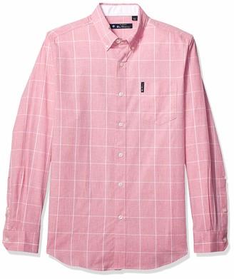 Ben Sherman Men's LS Windowpane Shirt