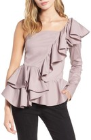 Leith Women's Ruffle One-Shoulder Blouse