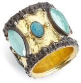 Armenta Old World Semiprecious Stone Cigar Band Ring
