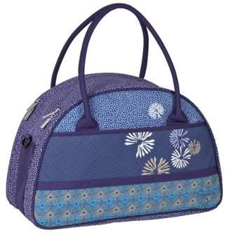 Lassig Casual Diaper Bag Stylish Shoulder Bag Mom's Bag Tote-Bag Handbag Organized Changing Bag Set from Mommy Daddy Matching Bottle Holder, Baby Changing Mat/Pad and Stroller Hooks, Bloom Petrol