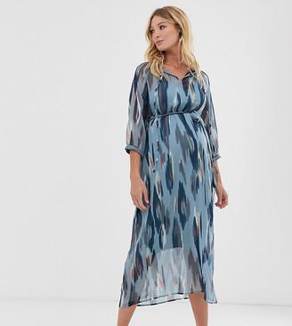 Mama Licious Mama.Licious Mamalicious printed midi dress-Multi