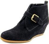 Franco Sarto Womens Amerosa Suede Booties Wedge Boots Black 7.5 Medium (B,M)