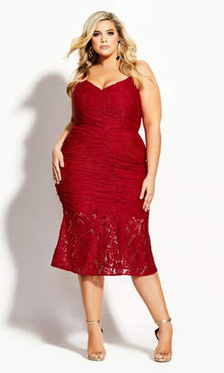 City Chic Lust After Dress - red