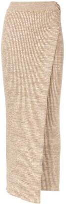 ANNA QUAN Matilde wrap knit skirt