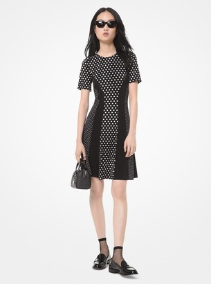 MICHAEL Michael Kors Mixed Polka Dot Matte-Jersey Dress
