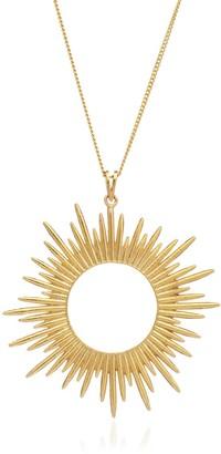 Rachel Jackson London Electric Goddess Statement Sun Necklace Gold