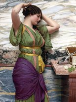 "FlekmanArt A FAIR REFLECTION by JOHN WILLIAM GODWARD girl woman mirror people Accent Tile Mural Kitchen Bathroom Wall Backsplash Behind Stove Range Sink Splashback One Tile 6""x8"""