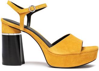 3.1 Phillip Lim Ziggy Embellished Suede Platform Sandals