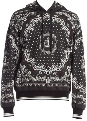 Dolce & Gabbana Bandana-Print Hoodie
