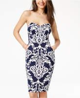 B. Darlin Juniors' Printed Strapless Bodycon Dress