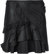 Derek Lam 10 Crosby ruffled mini skirt - women - Lamb Skin - 2