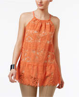 Alfani Petite Lace Peplum Halter Top, Only at Macy's