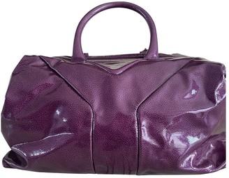 Saint Laurent Easy Purple Leather Handbags