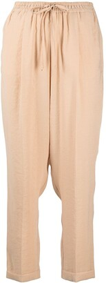 Alysi High-Rise Drawstring Tapered Trousers
