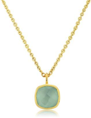 Auree Jewellery Brooklyn Gold Vermeil & Aqua Chalcedony Necklace