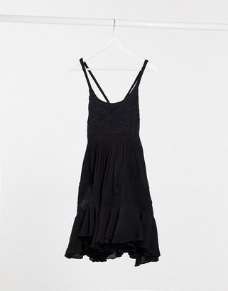 Free People encrusted mini dress in black