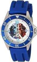 Marvel Men's 'Civil War' Quartz Stainless Steel and Rubber Automatic Watch, Color: (Model: W003132)