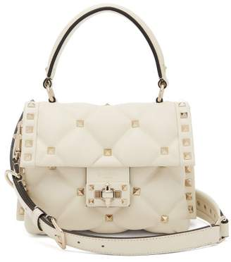 Valentino Candystud Mini Quilted Leather Cross-body Bag - Womens - Ivory